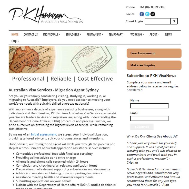 Australian Visa Services site
