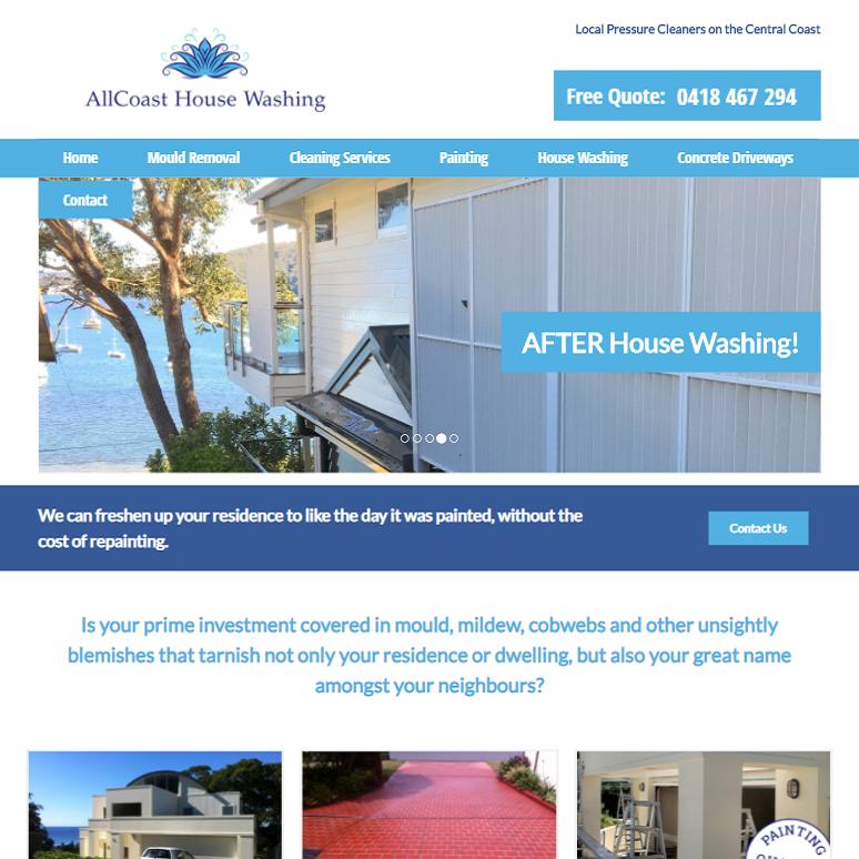 AllCoast House Washing site
